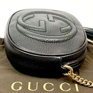 Gucci Bags - Authentic Gucci Soho Mini Round Chain Black